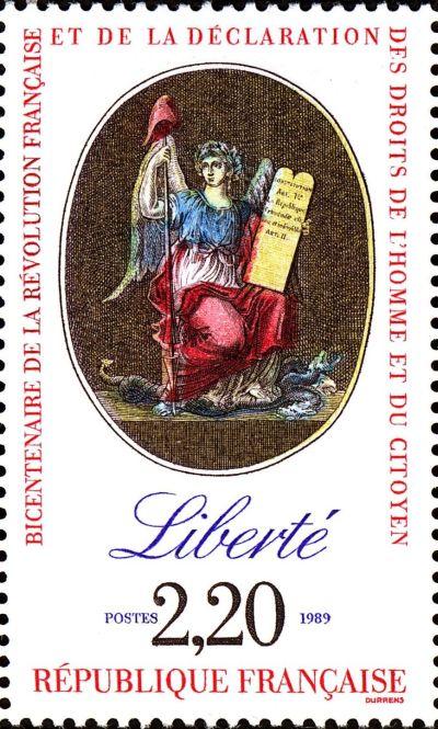 Le timbre fêtant le bicentenaire de la révolution française