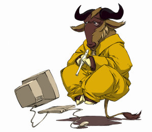 GNU en lévitation par Nevrax Design Team