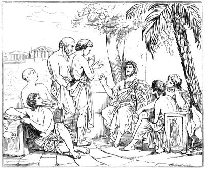 Platon dans son académie