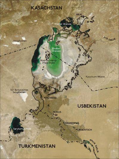 Mer d'Aral entre 1850 et 2004